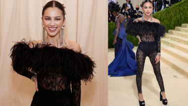 Olivia Rodrigo Makes Jaw-Dropping Appearance in Sheer Lace Saint Laurent Bodysuit to Met Gala 2021