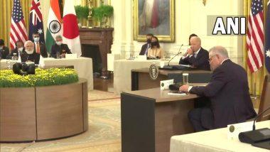 Quad Summit 2021: PM Narendra Modi Attends First QUAD Leaders' Summit Hosted by US President Joe Biden