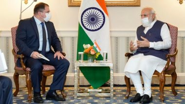 PM Narendra Modi Holds One-on-One Meetings With CEOs of Qualcomm, Adobe, First Solar, General Atomics and Blackstone in US