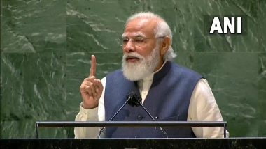 PM Narendra Modi at UNGA: 'Little Boy Who Helped His Father at Tea Stall is Addressing UNGA for Fourth Time', Says Prime Minister