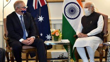 PM Narendra Modi Meets Australia's Scott Morrison Ahead of Quad Summit, Discuss Defence Partnership, Bilateral Ties