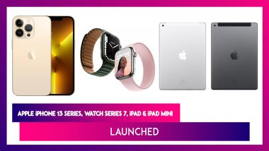 Apple iPhone 13 Series, iPad Mini, iPad & Watch Series 7 Launched