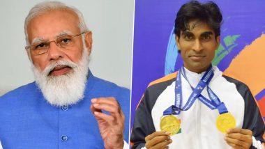 2020 Tokyo Paralympics: PM Narendra Modi Congratulates Shuttler Pramod Bhagat for Clinching Gold Medal