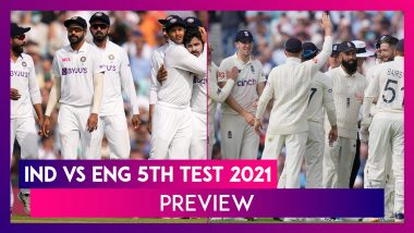 IND vs ENG 5th Test 2021 Preview & Playing XI: Hosts Eye Series Draw, Visitors to Go For The Kill
