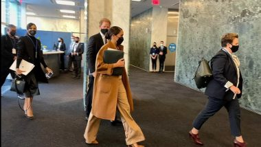 Prince Harry and Meghan Markle Meet With UN Deputy Secretary-General Amina Mohammed Amid World Leaders' Meeting