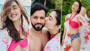 Disha Parmar Stuns in a Pink Bikini, Rahul Vaidya Goes Shirtless During Their Maldivian Holiday (View Pics)