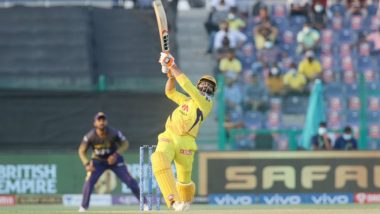 CSK vs KKR Stat Highlights IPL 2021: Ravindra Jadeja's Cameo Helps Chennai Super Kings Win by Two Wickets