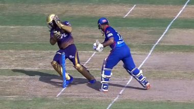 Rishabh Pant Almost Knocks Out Dinesh Karthik In Attempt To Stop Ball From Crashing Into Stumps During DC vs KKR, IPL 2021 Clash (Watch Video)