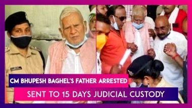 Chhattisgarh CM Bhupesh Baghel's Father Nand Kumar Baghel Arrested, Sent To 15 Days Judicial Custody