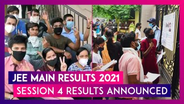 JEE Main Results 2021: Session 4 Results Out, 44 Students Score 100 Percentile, 18 Share Top Rank