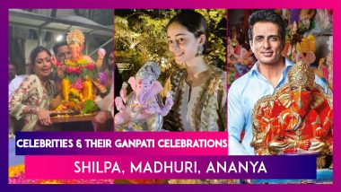 Celebrities And Their Ganpati Celebrations: Shilpa Shetty, Sharad Kelkar, Madhuri Dixit, Rahul Vaidya, Shweta Tiwari & Others Celebrate