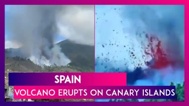 Spain: Cumbre Vieja Volcano Erupts On Canary Islands, First Time Since 1971; Atleast 5,000 Evacuated