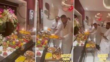 Ganesh Chaturthi 2021: Sanjay Dutt Celebrates the Festival With His Family, Performs Aarti (Watch Video)