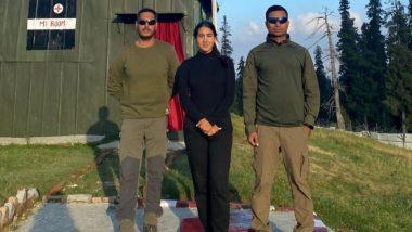 Sara Ali Khan Meets Indian Army Men in Jammu and Kashmir