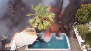 Lava From Cumbre Vieja Volcano Fills Swimming Pool In La Palma of Spain's Canary Islands (Watch Video)
