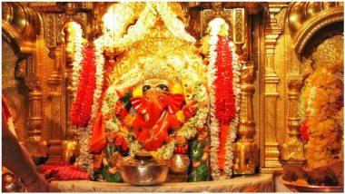 Siddhivinayak Ganapati Idol Live Darshan & Streaming Online for Ganesh Chaturthi 2021 Day 5: Watch Live Streaming of the Ganeshotsav Celebrations and Aarti From Mumbai