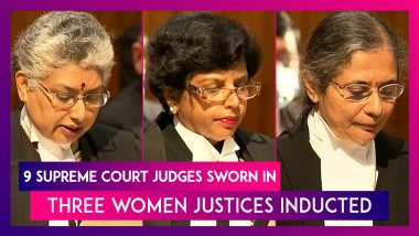 9 Supreme Court Judges Sworn In, Three Women Justices Inducted