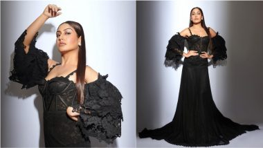 Yo or Hell No? Surbhi Chandna in Black Bustier Floor-Length Gown at Iconic Gold Awards 2021 (View Pics)