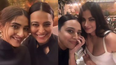 Swara Bhasker Parties With the 'Coolest Bride' Rhea Kapoor and Sonam Kapoor (View Pics)