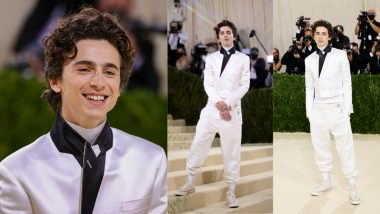 Met Gala 2021: Timothee Chalamet Makes His Debut in an All-White Haider Ackermann Suit and Sneakers