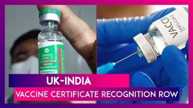UK-India Vaccine Certificate Recognition Row: Covishield Recognised But Indians To Quarantine On Arrival