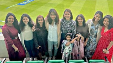 WAGS on Camera! Anushka Sharma, Prithi Ashwin, Sanjana Ganesan and Wives of Other Indian Cricketers Strike a Pose During IND vs ENG Oval Test (View Pics)