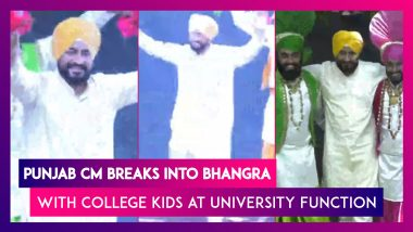 Punjab CM Charanjit Singh Channi Breaks Into Bhangra With College Kids At University Function