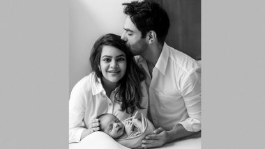 Aparshakti Khurana Shares the Cutest Family Photo with Wife Aakriti Ahuja and Baby Girl Arzoie as She Turns a Month Old