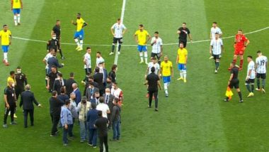 Brazil vs Argentina CONMEBOL FIFA World Cup Qualifier Suspended As Health Officials Invade Pitch (Watch Video)