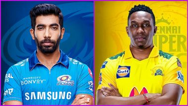 IPL 2021: Jasprit Bumrah, Dwayne Bravo Feature in 100th Game for Mumbai Indians and Chennai Super Kings Respectively