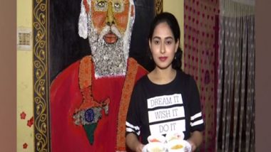 PM Narendra Modi Birthday: Odisha's Artist Priyanka Sahani Crafts 8-Feet Long Portrait of Prime Minister Using Food Grains on His 71st Birthday (See Pics)