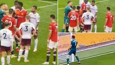 Emiliano Martinez Dares Cristiano Ronaldo to Take Penalty, Aston Villa Goalkeeper Trolls Manchester United Crowd After Bruno Fernandes' Unsuccessful Attempt (Watch Video)