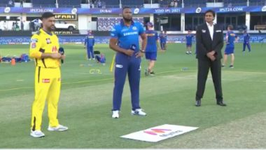 CSK vs MI IPL 2021 Toss Report & Playing XI Update: Kieron Pollard Captains Mumbai Indians As Rohit Sharma, Hardik Pandya Miss Out; Anmolpreet Singh Makes Debut