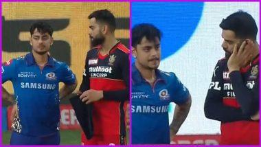 Virat Kohli has a Chat With Ishan Kishan Post RCB vs MI IPL 2021 Match, Photo Goes Viral