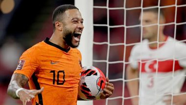 Netherlands Crushes Turkey 6-1 in FIFA World Cup 2022 European Qualifiers, Memphis Depay Scores Three Goals (Watch Video)