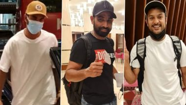 IPL 2021: Captain KL Rahul, Mohammed Shami and Mayank Agarwal Join Punjab Kings Squad in UAE (See Pictures)