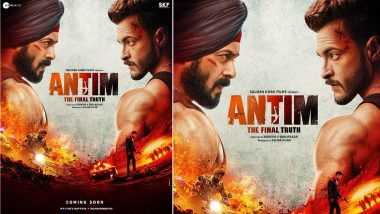 Antim: Salman Khan, Aayush Sharma Face Off in This Intense First Look Poster (View Pic)