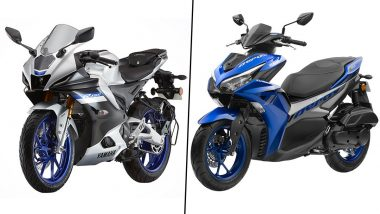 2021 Yamaha R15 V4, R15M & Aerox 155 Scooter Launched in India; Check Prices & Other Details Here