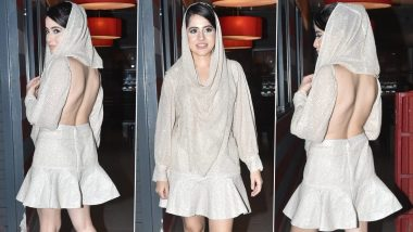 Urfi Javed Steps Out Wearing a Backless Shimmery Dress and We Think Her Unique Style Is on Point