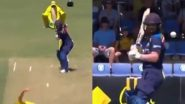 Mithali Raj Gets Hit on Her Head by Australia's Ellyse Perry During IND W vs AUS W 1st ODI 2021 (Watch Video)