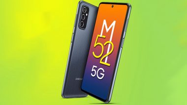 Samsung Galaxy M52 5G Smartphone To Be Launched in India Tomorrow at 12 pm IST; Expected Prices, Features & Specifications