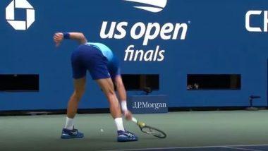 Novak Djokovic Smashes Racket in Rage During US Open 2021 Final Match, Video Goes Viral