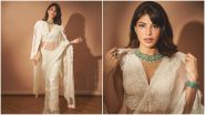 Jacqueline Fernandez Flaunts Her Love for Victorian Fashion in This White Lace Saree (View Pics)