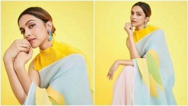 Deepika Padukone's Payal Khandwala Saree is the Right Festive Outfit To Wear for Ganesh Chaturthi Celebrations (View Pics)