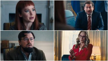 Don't Look Up: Leonardo DiCaprio, Jennifer Lawrence Warn Meryl Streep's President and Jonah Hill's Chief of Staff About an Apocalypse! (Watch Video)