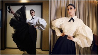 Mouni Roy Stirs Up a Fashion Storm in Her Tulle Skirt and White Shirt With Dramatic Sleeves (View Pics)