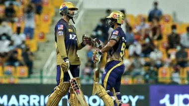 MI vs KKR, IPL 2021 Stat Highlights: Rahul Tripathi's Unbeaten Knock of 74 Runs Helps Kolkata Knight Riders Register an Impressive 7-Wicket Win Over Mumbai Indians