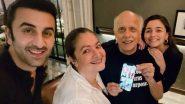 Alia Bhatt Celebrates 'Papa' Mahesh Bhatt's 73rd Birthday in Style With Sister Pooja Bhatt; Beau Ranbir Kapoor Also Part of the Celebrations (View Pics)