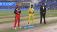RCB vs CSK IPL 2021 Toss Report & Playing XI Update: Singapore's Tim David Makes Debut for Royal Challengers Bangalore as Chennai Super Kings Opt to Bowl