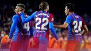 Barcelona 1–1 Granada, La Liga 2021–22: Catalans Rescue Point at Home Through Last-Gasp Strike by Ronald Araujo